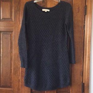 Loft Sweater Dress in Gray